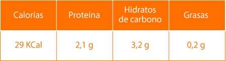 Datos nutricionales de los ajos tiernos