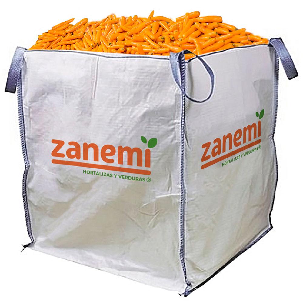 Saca de 1000 kg de zanahorias Zanemi - Producción y venta de hortalizas y verduras