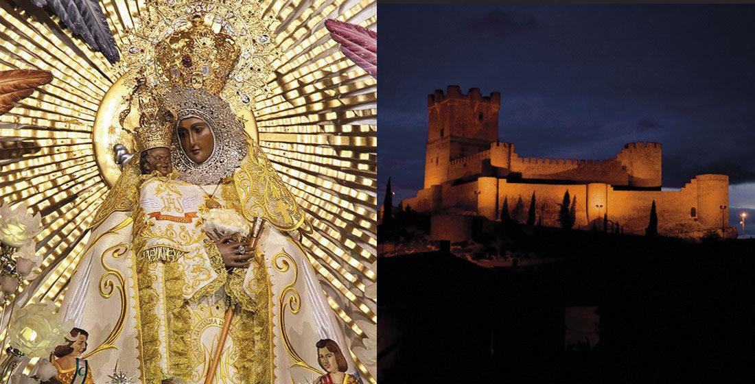 Virgen de las Virtudes y Castillo de la Atalaya - Villena